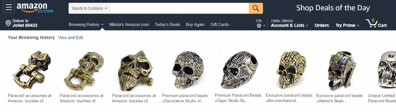 Paracord accessories skulls beads and buckles for sale on Amazon