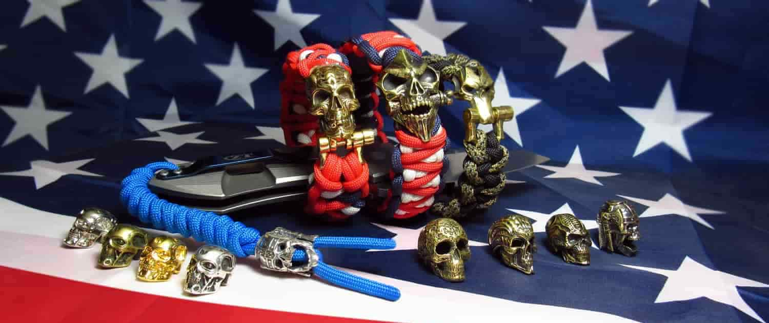 Paracord accessories skulls