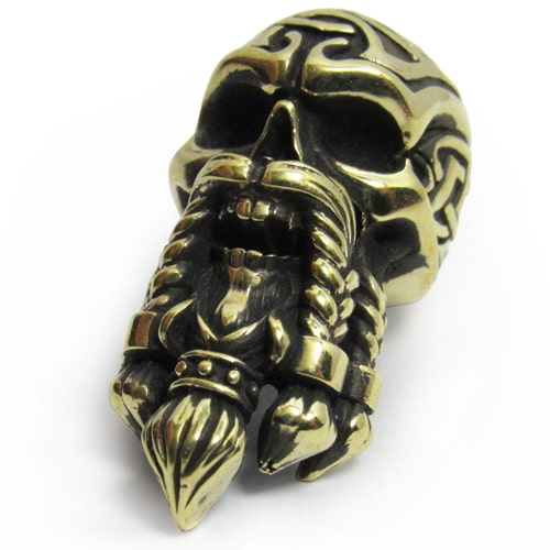 Accessories «Bearded Viking Skull» for paracord lanyards